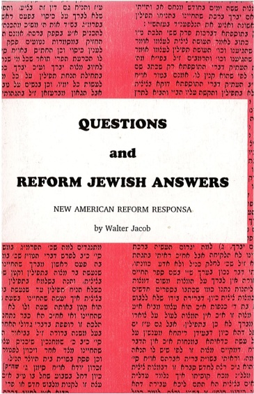 Dr Jacob Cover 1 - Questions and Reform Jewish Answers