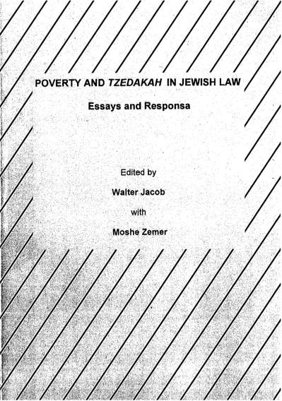Dr Jacob Cover 19 - Poverty and Tzedakah