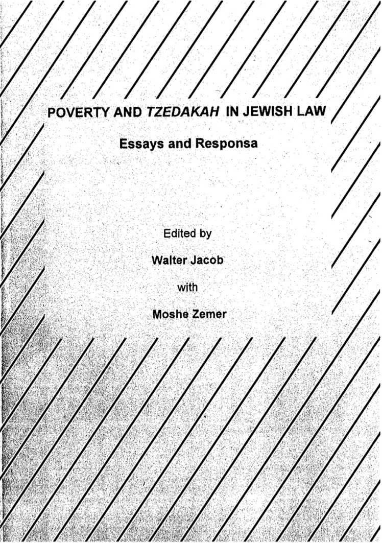 Dr Jacob Cover 19 - Poverty and Tzedakah