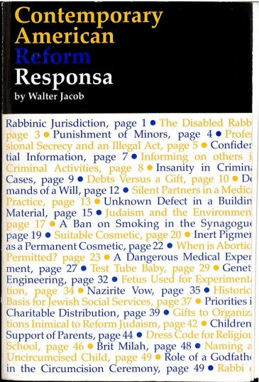 Dr Jacob Cover 2 - Contemporary American Reform Responsa