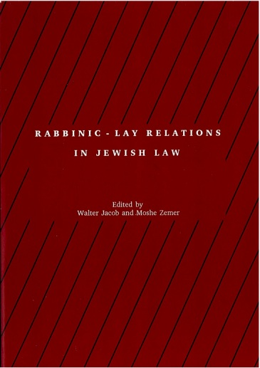 Dr Jacob Cover 21 - Rabbinic Lay Relations