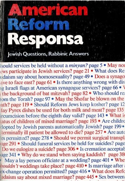 Dr Jacob Cover 26 - American Reform Responsa