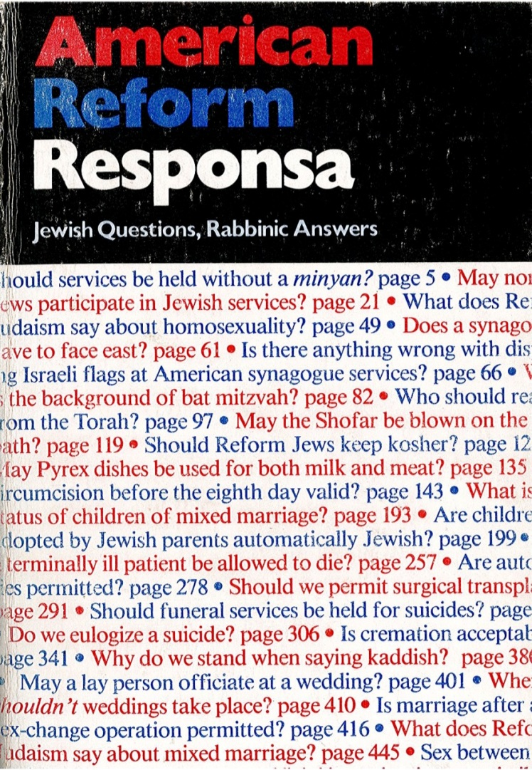 Dr Jacob Cover 26 - American Reform Responsa