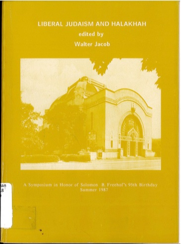 Dr Jacob Cover 4 - Liberal Judaism and Halakhah