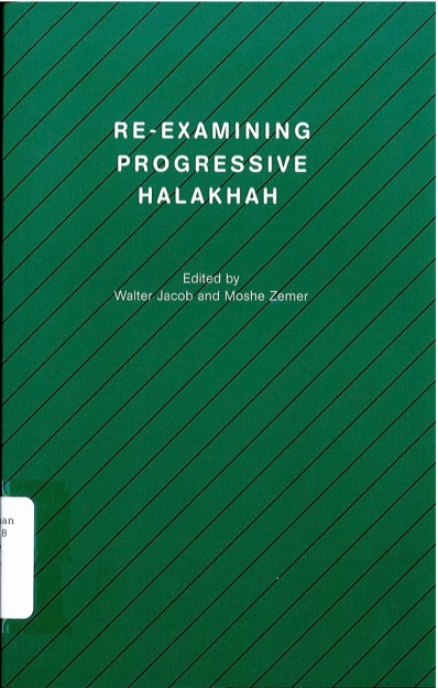 Dr Jacob Cover 6 - Reexamining Progressive Halakhah